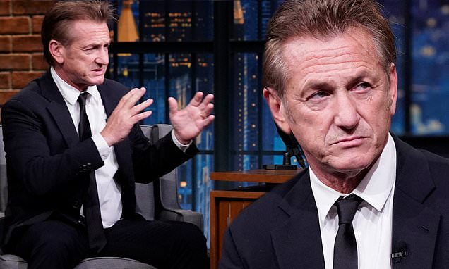 Sean Penn urges only those who have been vaccinated to see his new drama film Flag Day in theaters – Daily Mail